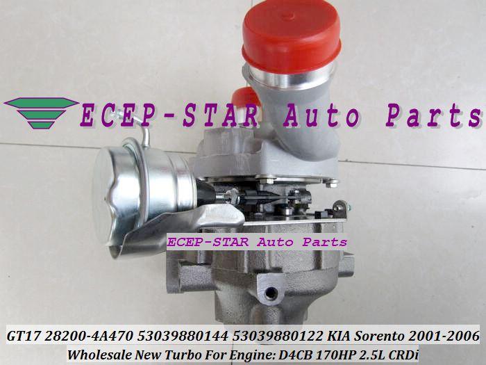 Turbo BV43 28200-4A470 53039880144 530398880122 28200 4A470 282004A470 0144 Turbocompressore a turbina KIA Sorento 2.5L CRDi 2006- D4CB 170HP