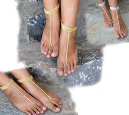 Wholesale Christmas Sexy Boy - Barefoot Sandals Chain Link Design , Crochet Sandals,Sexy Foot Jewelry, Anklet, Toe Ring, Yoga, Foot Thongs, Nude Shoes.10pairs 20pcs.