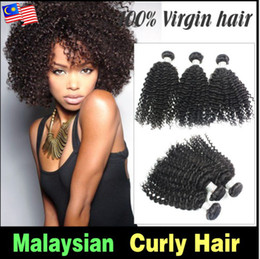 "kinky hair extension factory NZ - Wholesale - - Factory Price!!! mix length 12""-28"" Malaysian virgin hair kinky curly wave unprocessed extension 50g pcs 1B# natural color"
