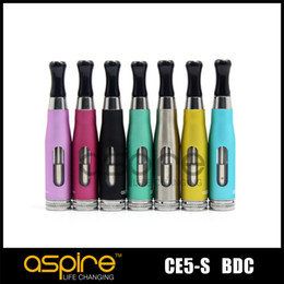 Wholesale Bottom Dual Coil - Wholesale - Atomizer Aspire CE5-S BDC 510 Clearomizer BDC Atomizer Bottom Dual Coil vaporizer Aspire CE5 S 510 Atomizer replacement tank