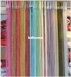 Wholesale Partition Free - HOT SELL  high quality string curtain For living room  door curtains partition fashion sheer curtains 100 * 200CM  FREE SHIPPING