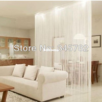 Wholesale String Curtains Divider - Free shipping big size 300cmx300cm string curtain, string panel, fringe panel, room divider wedding drapery 20 colors.