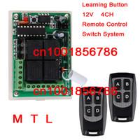 ingrosso canale di controllo dell'interruttore a distanza-Nuovo # DC 12V 10A 4 Canali Codice Apprendimento Sistemi RF Wireless Remote Switch Switch Ricevitore * 2 Trasmettitore impermeabile