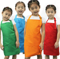 Wholesale Baby Bib Coverall - Awesome the most popular PAITING KID APRON PINAFORE! Mother's goold help baby children's aprons Mixed color good quality kid's aprons! Bib