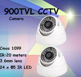 Wholesale Surveillance Camera Housing Outdoor - 2pcs lot security camera 900TVL DIS chipset plastic housing double glass dome camera indoor video surveillance system