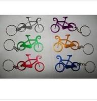 bisiklet şişe açacağı iyilik toptan satış-Kişiselleştirilmiş Anahtarlık Tasarım Bisiklet Komik Mutfak Malzemeleri Için Yönlü Alüminyum Bira Şişe Açacağı Bar Araçları Düğün Favor (Baskı Olabilir