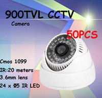 wholesale dome security camera system al por mayor-50pcs / lot venden al por mayor el sistema de vigilancia video de interior de la cámara de la seguridad de las cámaras de seguridad 900TVL DIS