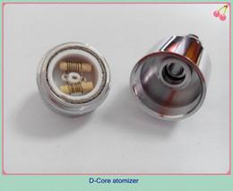 Wholesale Electronic Cigarette Atom - Voguecig D-CORE double coils wax atomizer ceramic rob wax vaporizer dual heating coils wax cartomizer e cigarette ego electronic smoke atoms