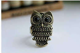 Wholesale Bronze Owl Ring - Hot sales ! 2014 New vintage Style (Bronze \ silver) Owl Ring! CRYSTAL sHOP