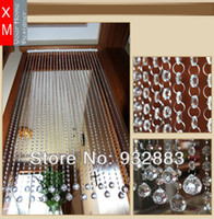 Wholesale Wholesale Door Beads - Free shipping customized octagon beaded crystal curtain Crystal bead curtain curtain for living room
