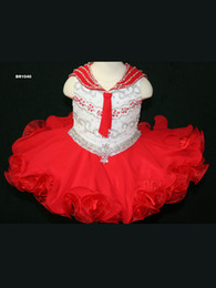 $enCountryForm.capitalKeyWord Canada - 2016 On Sale Cute Red Girls Pageant Dresses Short Chiffon Organza V Neck Zipper Back Beading Sequins White Bodice Bow Girls TUTU Dresses