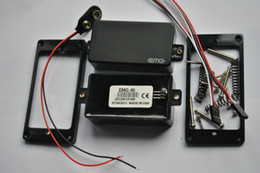 Wholesale Emg Active Pickups - EMG 81   85 9 V Battery active pickups closed type electric guitar pickups power Free Shipping