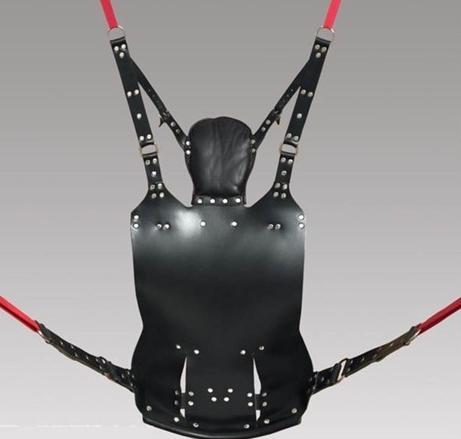 Novo sexo balanço sexo sofá BDSM alta qulity sexo mobiliário couro genuíno Sling w e estribos e travesseiro frete grátis