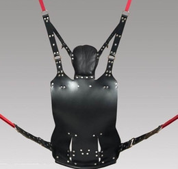 Wholesale Slings Stirrups - New Sex Swing sex sofa BDSM high qulity Sex Furniture Genuine Leather Sling w and Stirrups and Pillow free shipping