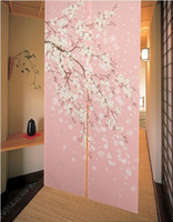 Wholesale Brand New Romantic Oriental Cherry Japanese Noren Doorway Curtain JOY and Retail