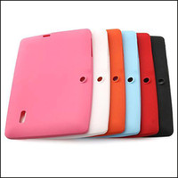Wholesale A13 Android - Freeshipping Colorful Q88 Silicone Rubber Back Case for 7 inch A23 A13 Android Tablet PC Retail