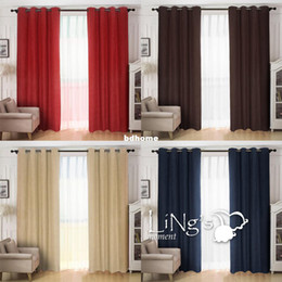 LiNgs Solid Color Faux Suede Curtain For Living Room Ready Made Eyelet Ring Top Window Home Decoration