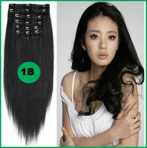 Wholesale 12 26 Unprocessed Remy Hair Straight Clip In Hair Remy