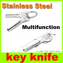 Wholesale New Tech Tools - New 6-in-1 multifunctional knife Mini Key Knife portable tools Swiss Tech Keyring Pocket Survival Knives keyring utility Outdoor Gadgets H