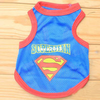 Wholesale Dog Apparel Mesh Shirts - 2014 hot sales New color blue Dog Pet Mesh Breathe Vest Doggy Summer Clothes Top Apparel Shirt Costume Free&Drop Shipping