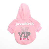 Wholesale Cheap Clothes For Cats - New 2014 Spring & Summer Cheap Pet Dog Clothes Pink VIP Hoodie for Dogs Puppies Clothing for Cats Wholesale& Retail Free Shiping