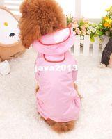 Wholesale Pet Dog Rain Coat Hoodie - Free Shipping CAYJ New Pet Dog Rain Coat Hoodie Hooded Raincoat Clothes Apparel 3 color