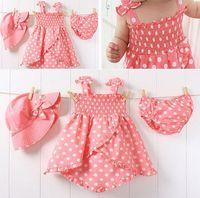 Wholesale Dot Tutu Dress Suits - 203230 TOP seller children's dot skirt + briefs + hat tutu baby girl's dress skirt suit kids wear kids clothing free shipping