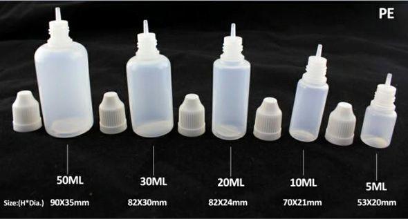 2019 Ejuice Bottles 3ml 5ml 10ml 15ml 20ml 30ml 50ml