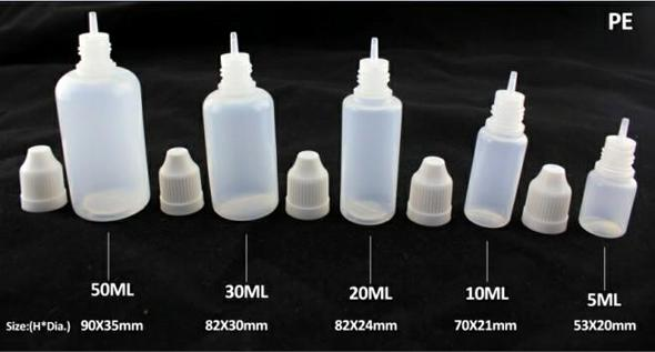 top popular Ejuice Bottles 3ml 5ml 10ml 15ml 20ml 30ml 50ml Plastic Dropper Bottle Plastic with Child Proof Caps&Long Thin Tips PE Eliquid Bottles 2019