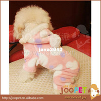 Wholesale Pajamas Pink Leopard - Pink Lovely Leopard Dog Winter Coat Dog Pajamas Pet Pajamas Shaker Flannel Pet Clothes Hoodie High Quality