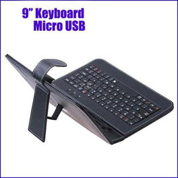 Universal Inch Keyboard Tablets Canada - Wholesale - Freeshipping 9inch Universal Keyboard 9 inch multi-color PU leather Case with Micro USB Keyboard for Android Tablet Q9 PRO MQ60