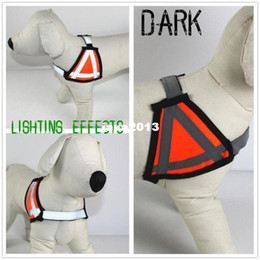 Wholesale Dogs Clothes Harness - Pet Dog Clothes Dog Harness Dog Safety Harness Orange Reflective Strip New
