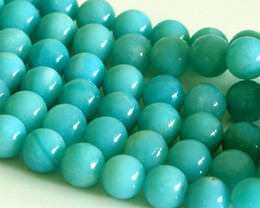"Wholesale Natural Amazonite - Discount Wholesale Natural AAA Blue Amazonite Round Loose Stone Beads 3-18mm Jewelry DIY Necklaces or Bracelets 15.5"" 02834"