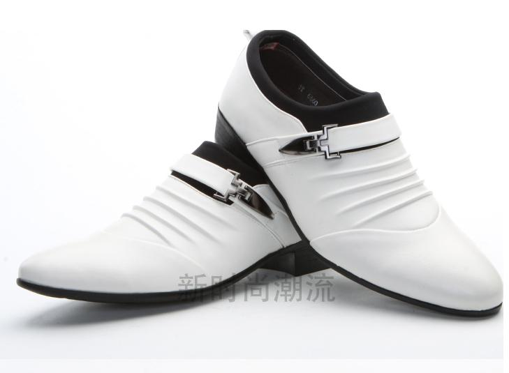 Lowest price men's black shine wedding shoes prom shoes leather shoes PX12