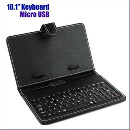 Универсальный чехол для клавиатуры с клавиатурой онлайн-Бесплатная доставка 10 10,1-дюймовый универсальная клавиатура многоцветный PU кожаный чехол с Micro USB клавиатура для планшета розничная