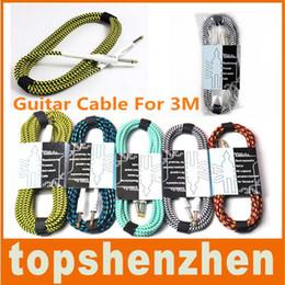 2019 enchufes de banana envío gratis Cable de guitarra para un acorde especial 3M 6FT Efecto parche Tejido Planet Wave Cable Cable Aplica a la guitarra Yamaha