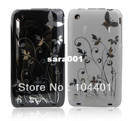 Wholesale Hard Cover For Iphone 3g - 1pc New Butterfly Flower Hard Plastic Cover Case for iPhone 3G 3GS free shipipng ( Hong Kong Air Mail)