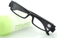 Wholesale Reading Glasses Powers - newest black Led Reading Glasses Reading Glass with LED Light glasses power +1 +1.5 +2 +2.5 +3 +3.5 +4