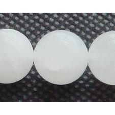 """Wholesale Jade Jewelry Bracelets - Discount Wholesale Natural Genuine White Jade Round Loose Stone Beads 3-18mm Fit Jewelry DIY Necklaces or Bracelets 15.5"""" 1140"""