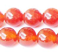 "Wholesale Carnelian Bracelets - Discount Wholesale Natural Carnelian Red Agate Round Loose Stone Beads 3-18mm Fit Jewelry DIY Necklaces or Bracelets 15.5"" 0915"