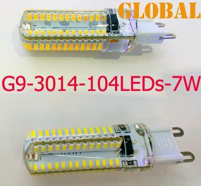 5X 7W 3W LED شمعة المصابيح الثريا الملحقات مصلحة الارصاد الجوية 3014 104 المصابيح 600 التجويف AC 110V-130V 220-240V G9 LED مصباح 360 شعاع زاوية الصمام الإضاءة