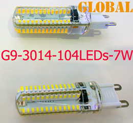 3w G9 Canada - 5X 7W 3W Led Candle bulbs chandelier accessories SMD 3014 104LEDs 600 lumen AC 110V-130V 220-240V G9 LED Lamp 360 Beam Angle LED Lighting