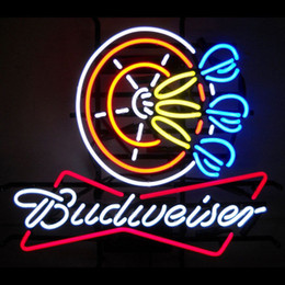 Wholesale Bud Light Orange - NEW BUDWEISER BUD BEER POKER DARTS NEON SIGN LIGHT