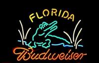 Wholesale Fl Lighting - Budweiser Florida Neon Sign Light FL Gator Alligator Crock Bar Pub Club