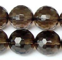 "Wholesale Loose Smoky Crystal - Discount Wholesale Natural Genuine AAA Smoky Quartz Tea Crystal Faceted Round Loose Stone Beads 3-20mm Fit Jewelry DIY Necklace 15.5"" 0234"