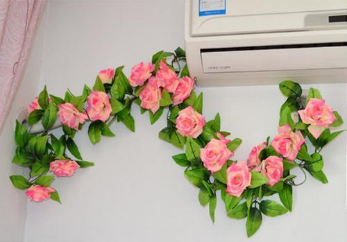 Decorações casamento flor videira artificial rosa simulação rosas seda flor