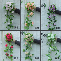 Wholesale Simulation Flower Artificial Vine - Wedding decorations flower vine artificial rose simulation roses silk flower