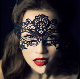 New Masquerade Halloween Exquisite Lace Half Face Mask For Lady Black White Option Fashion Sexy Free Shipping