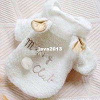Wholesale Drop Shipping Pet Apparel - Free Shipping Pet Puppy Dog Clothes Cute White Sheep Warm Hoodie Coat Apparel LX0076 Drop Shipping