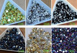 Wholesale Acrylic Rhinestone Gems - Hot 5000pcs lot 3mm Acrylic Clear Crystal Rhinestone Flatback Scrapbook Nail Gems Nail Art Scrapbooking 30colors